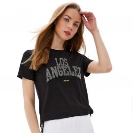 Tee shirt GUESS femme LOS ANGELES strass W01I89