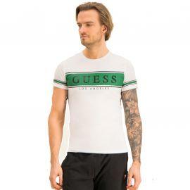 Tee shirt Guess blanc et vert M0184