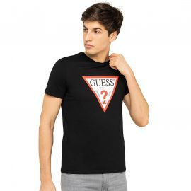 Tee shirt GUess noir logo classic