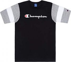 Tee shirt champion noir gris 213644