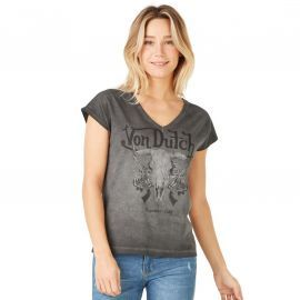 Tee shirt Von dutch Femme gris délavé MIAMI