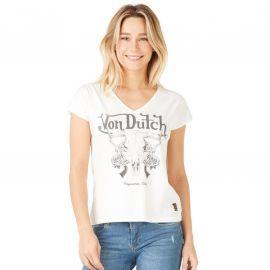 Tee shirt Von dutch Femme blanc MIAMI