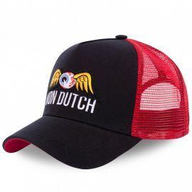 Casquette trucker Von Dutch EYEPAT2 noir rouge