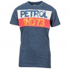 Tee shirt petrol industries junior bleu manche courte