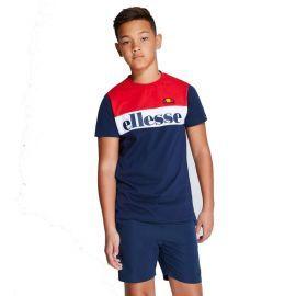 Tee shirt tricolor junior ELLESSE ELBRIO S3E08592 rouge blanc bleu