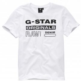 Tee shirt Gstar Raw blanc SQ10036