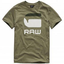 Tee shirt Gstar kaki avec logo SQ10026