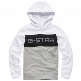 Sweat Gstar Raw blanc à capuche SQ15096