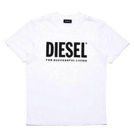 Tee shirt junior DIESEL TJUSTLOGO 00J4P6 OOYI9 K100 blanc