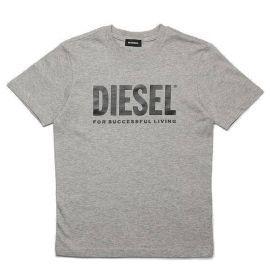 Tee shirt junior DIESEL TJUSTLOGO 00JAP6 OOYI9 K963 gris