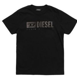 Tee shirt junior DIESEL TJDIVISION 00J4P9 - 00YI9- K900 noir