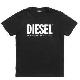 Tee shirt junior DIESEL TJUSTLOGO 00J4P6 00Y19 K900 noir