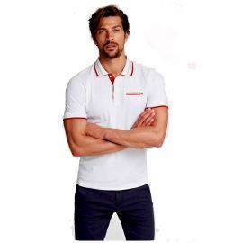 Polo homme GUESS M02P44K8510 blanc