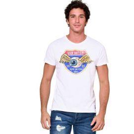 Tee shirt homme VON DUTCH VD/1/TVC/OUT/W blanc