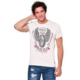 Tee shirt homme VON DUTCH VD/1/TRC/VING/BE beige