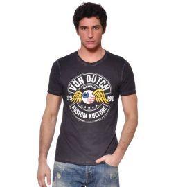 Tee shirt homme VON DUTCH VD/1/TRC/RALF/DG gris
