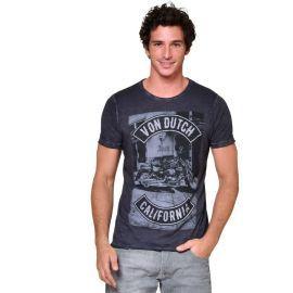 Tee shirt homme VON DUTCH VD/1/TRC/MOTO/NR gris
