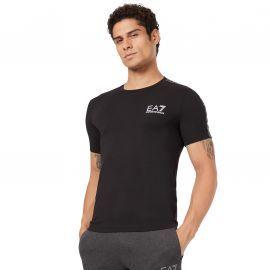 Tee shirt EA7 6GPT13 noir à bande