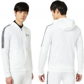 Sweat Armani EA7 blanc avec bande 3HPM24 PJ05Z