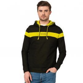 SWEAT H M01Q44 NOIR JAUNE PAS DE PHOTO