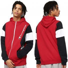 Veste zippé champion a capuche rouge 213639