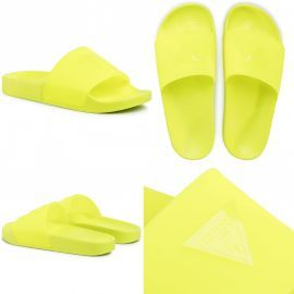 Claquette GUESS jaune fluo E02Z13BB00s