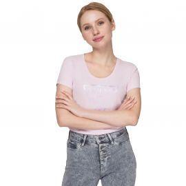 Tee shirt femme guess rose W0GI77J1300