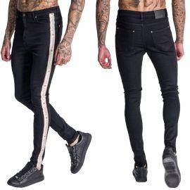 Jean skinny noir avec bandes de la marque gianni kavanagh