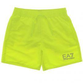 Short de bain enfant EA7 Emporio Armani vert fluo 906005 9P772