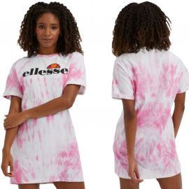 Robe ELLESSE COLORE TEE rose et blanche SGF09275