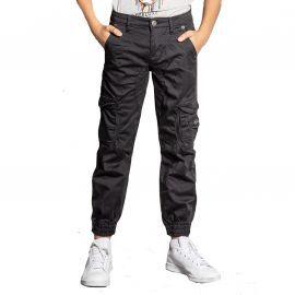Pantalon cargo enfant gris GARDEN S207017B