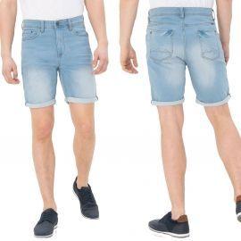 Short en jean bleu clair homme 20710428