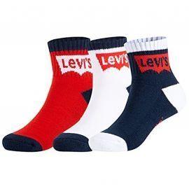 Pack X3 chaussettes LEVI'S junior XL0078-U09 bleu blanc rouge