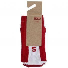 Pack X2 chaussettes LEVI'S junior XL0101-R6C rouge blanc