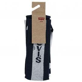 PackX2 chaussettes LEVI'S junior XL0101-U09 bleu blanc