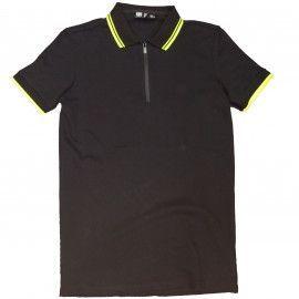 Polo Ersstyle ,noir liseret jaune