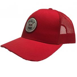Casquette FRENCH TERRY rouge 9879 CAS
