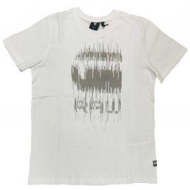 Tee shirt Gstar raw blanc radio SR10086