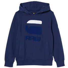 Sweat Gstar raw à capuche bleu éléctrique SQ15076