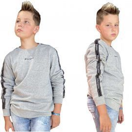 Sweat champion enfant gris à bande 305503