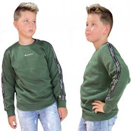 Sweat champion enfant Vert à bande 305503