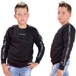 Sweat champion enfant noir à bande 305503