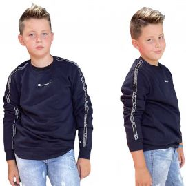 Sweat champion enfant Bleu marine à bande 305503