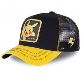 Casquette Pikatchu noir et jaune pokemon