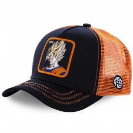 Casquette Dragon ball Z Sangoku noir et orange