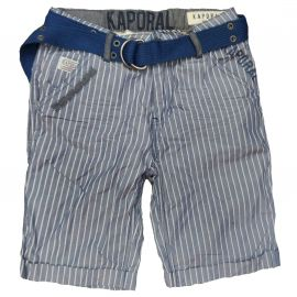 Short Kaporal à rayure CEDE junior bleu et blanc