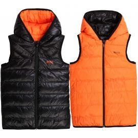 VESTE J J26415 NOIR/ORANGE