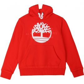 Sweat à capuche en molleton rouge Timberland T25R40