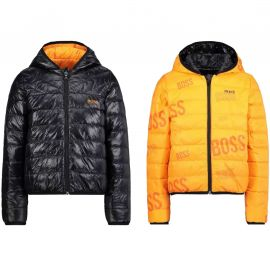 VESTE J J26416 NOIR/ORANGE
