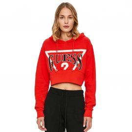 Sweat Guess rouge Croc top Femme WOYQ65
